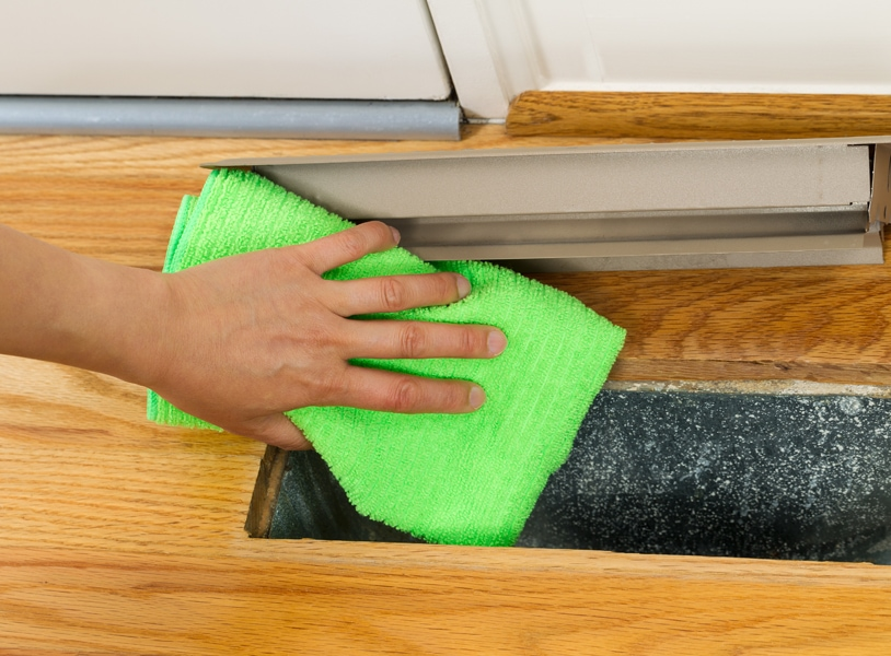Cleaning Dust from inside of floor heat vent. Why Should You Clean Your Air Ducts?