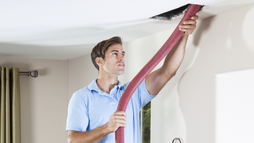 Air duct cleaning service.
